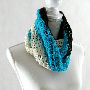 Infinity Scarf, Cowl, Crochet, Handmade, Lace